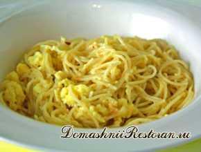 Вермишель (макароны) с яйцом
