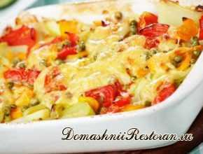 Запеченное овощное рагу с сыром