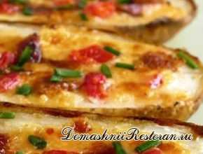 Запеченный картофель-пицца