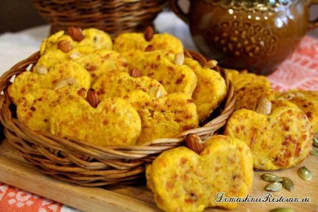 Печенье заварное с тыквой
