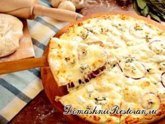 Сырная пицца по- домашнему