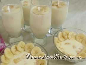 Желе из сметаны и банана
