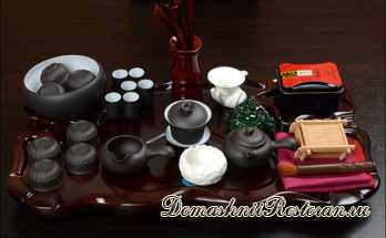 полный чайный инструмент для укладки чая и удержания посуды