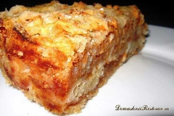 Самый вкусный сыпучий пирог с яблоками