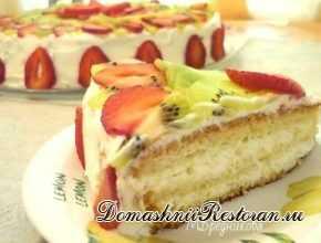 Бисквитный торт Очарование со сливочным кремом