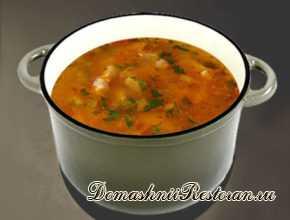 Рыбный суп из скумбрии с кабачками
