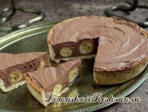 Вкуснейший торт с бананми и шоколадным муссом