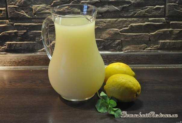 Лимонад домашний - с мятой и медом