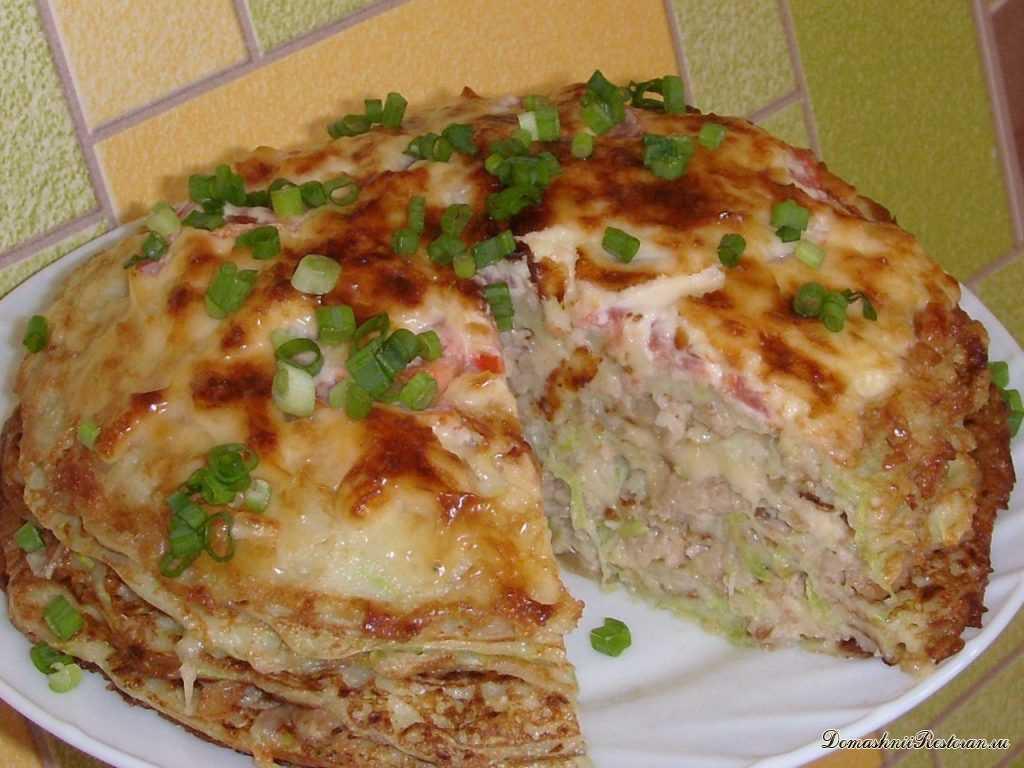 Мясной торт из курицы, рецепт