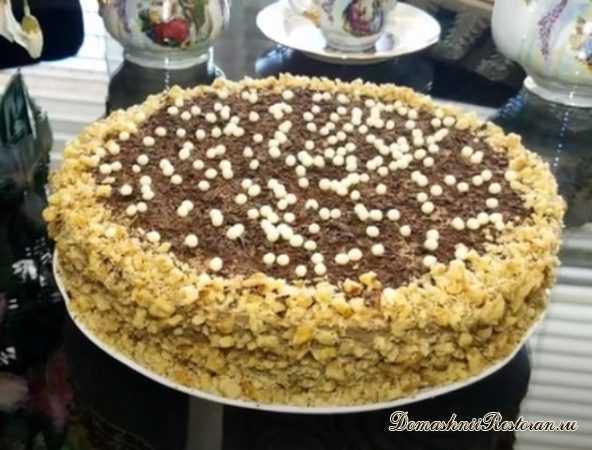 """Бисквитно-кремовый торт """"Минчанка"""""""