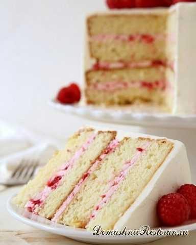 Бисквитный торт с Малиной и белым Шоколадом✧Вкусно, ягодно-шоколадно, празднично