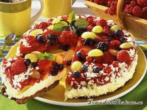 Ягодный торт с творожным сыром без выпечки☆потрясающий, нежный, вкусный ягодный десерт