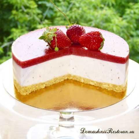 Вкусный Йогуртовый торт с Клубникой🍰очень легкий в приготовлении