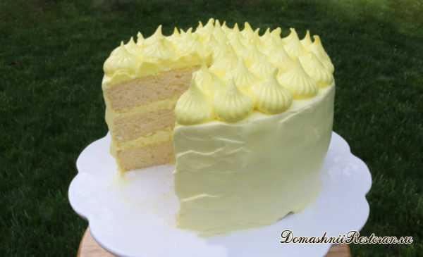 Лимонно-Сметанный Торт🍋пушистый, нежный, очень вкусный