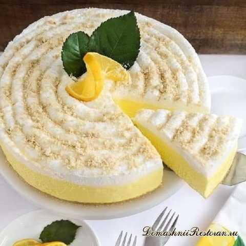 Лимонный чизкейк без выпечки🍋изысканный и простой десерт на все случаи