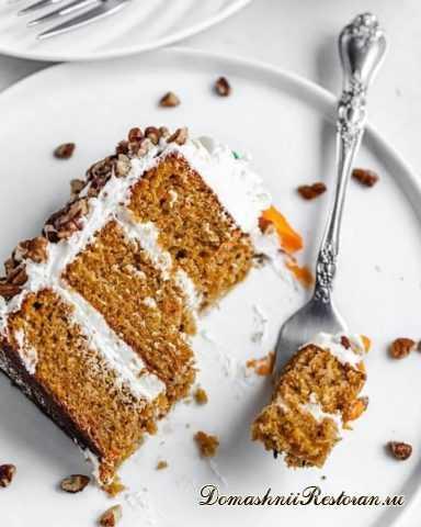 Морковный Торт с Крем-Чизом. Простой рецепт очень вкусного торта