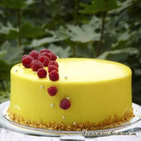 """Оригинальный Муссовый торт """"Малина - Лимон"""" с Малиновым Конфитюром"""