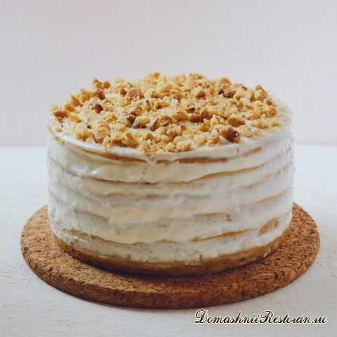 Рецепт Морковного ПП-Тортика с грецкими орехами