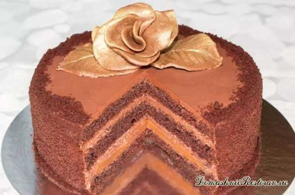 """Рецепт шоколадного торта """"ТРЮФЕЛЬ"""" с карамелью ~ шоколадная роскошь!"""
