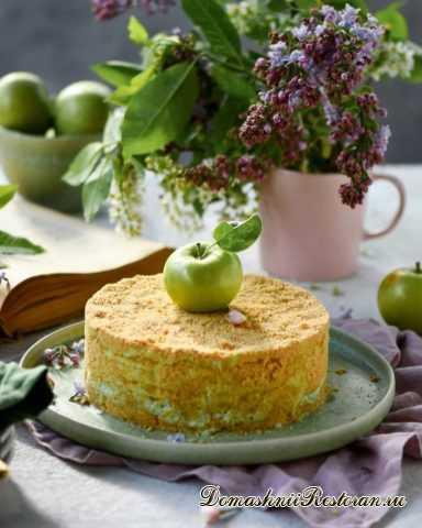 """Торт """"Яблочная Свежесть"""". Очень Вкусно и Нежно!"""