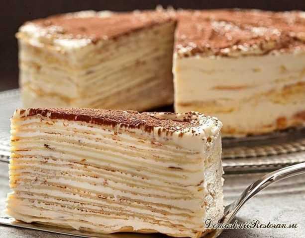 Блинный Торт «Крепвиль» - коронный торт французской кухни