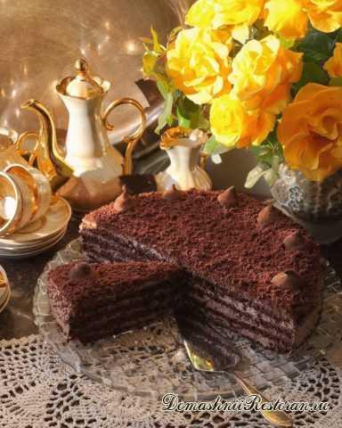 Торт «Шоколадный шоколад с орехами» ~ нежный, вкусный