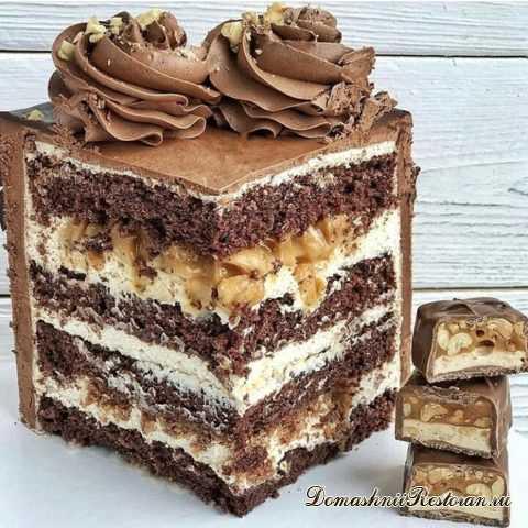 """Необыкновенно вкусный Торт """"Сникерс""""✧сплошное наслаждение для сладкоежек!"""
