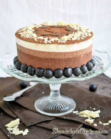 """Нежнейший муссовый десерт Торт """"Три Шоколада""""😃25 красивых фото"""