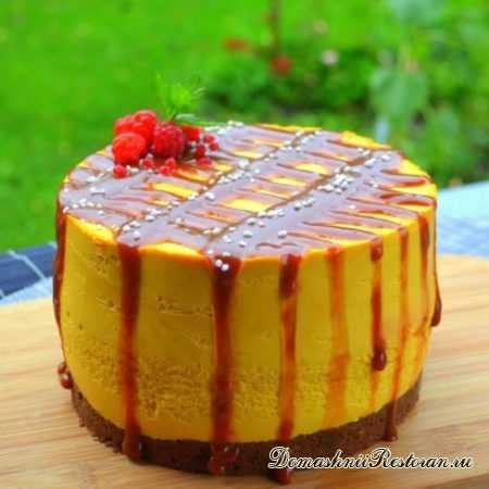 Потрясающе вкусный Тыквенный Чизкейк с малино-апельсиновой начинкой и солёной карамелью!🥧