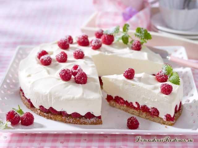 Малиново-йогуртовый торт 🍰 Очень нежный, вкусный десерт!