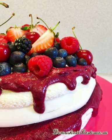 Торт «Павлова» с ягодным курдом ❣ Всеми любимый роскошный, лёгкий торт-безе Анна Павлова