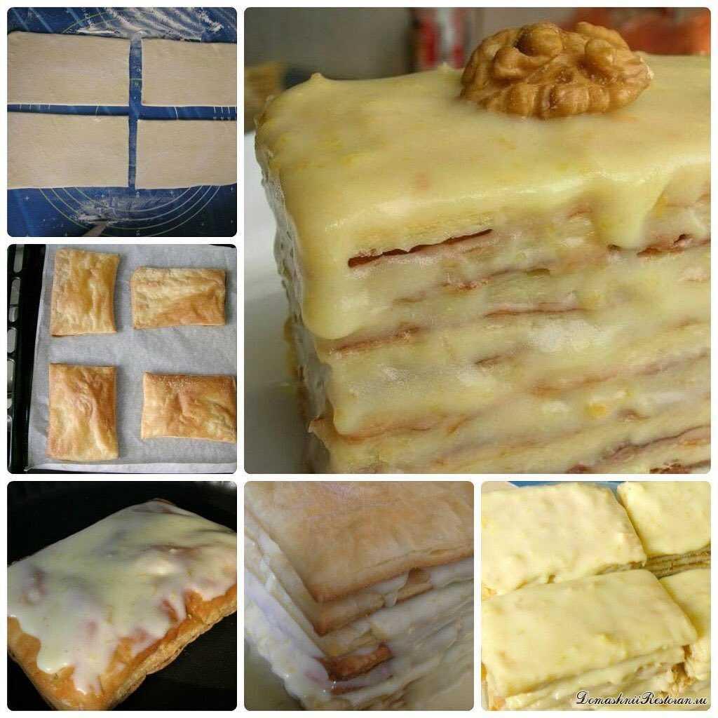 Простое слоёное пирожное