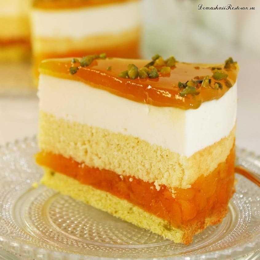 Изысканный Абрикосово-йогуртовый торт*лёгкий, нежный и воздушный десерт