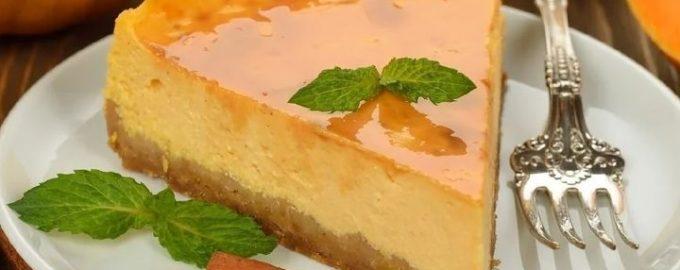 Десерт из творога и тыквы без выпечки