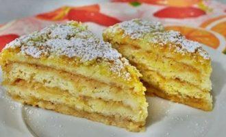 """Насыпной яблочный пирог """"Три Стакана"""" по-болгарски"""