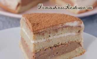 Банановый Торт с Творожным Кремом и Шоколадной начинкой