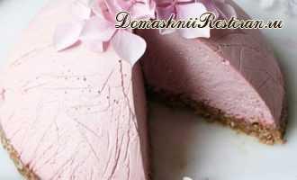 Постный (веганский) вишнёво-персиковый торт без выпечки