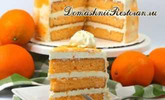 Весенний апельсиновый торт